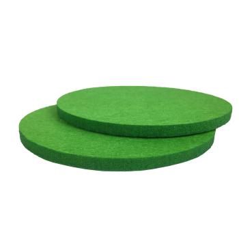 Filzuntersetzer grün rund 96 x 96 mm