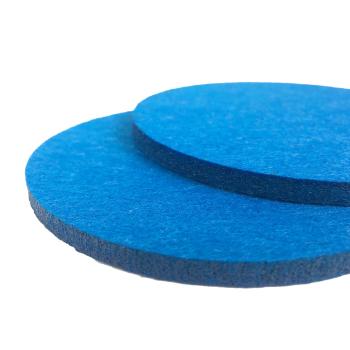 Filzuntersetzer blau rund 96 x 96 mm