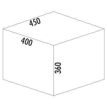 Abfallsammler 2-fach Cox Base 360 S/450-2 Frontauzug