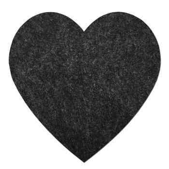 2er Set große Filz Untersetzer Herz