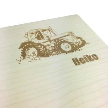 Frühstücksbrett Ahorn 30x18 cm Traktor & Wunschname