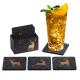 Filz Untersetzer WILD anthrazit / gold mit Box 9-teilig