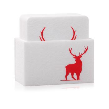 Filz Untersetzer WILD weiss / rot mit Box 9-teilig