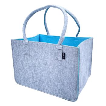 Filz Einkaufstasche NATURA grau/blau