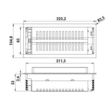 Evoline® BackFlip USB Steckdosenelement Ladestation