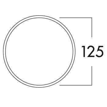 Klima-E 125 Mauerkasten COMPAIR® flow 125 mit Anschluß rund  - 4022013