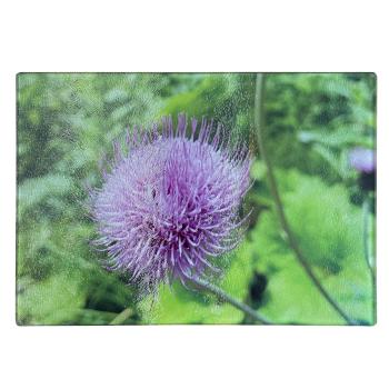 Frühstücksbrettchen Glas 28,5 x 20 cm Blume