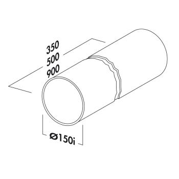 Rohr 150 Rundrohr COMPAIR®flow 150 verschiedene...
