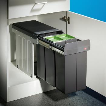 3-fach Abfallsammler WESCO Bio Trio Mülltrennsystem