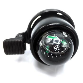 Fahrradklingel schwarz mit integriertem Kompass