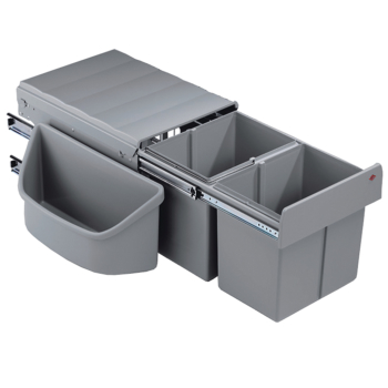 Abfallsammler Corner Boy 2 alu grau 32 Liter