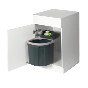 Abfallsammler Müllex Euro Flexx anthrazit 35 Liter Schwenktechnik