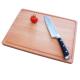 Schneidbrett Tranchierbrett Holz massiv Buche geölt mit Saftrille 1,5 cm stark