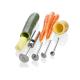 Lurch Twister Edelstahl Schäler Spiralschneider 5 tlg. zum Gemüse aushöhlen