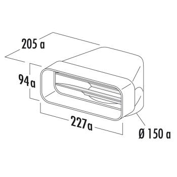 F-UR Umlenkstück 90° COMPAIR®flow 150 - 4043002
