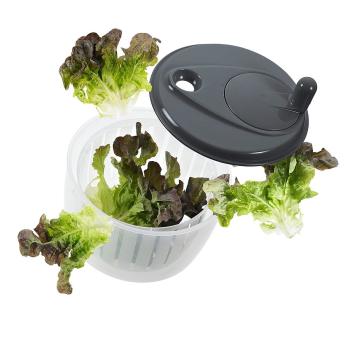 Lurch Salatschleuder mit Kurbel steingrau