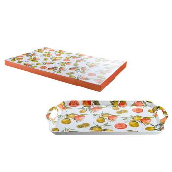 """Tablett Serie """"Fresh Fruits"""" 100% Melamin 48,5..."""